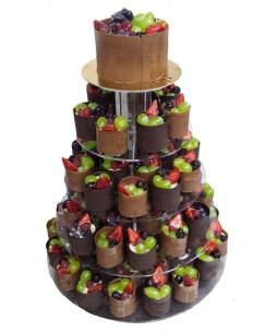 Minitorturi-nunta-Ciocolata si fructe