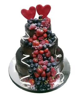 Tort-nunta-Ciocolata-si-fructe