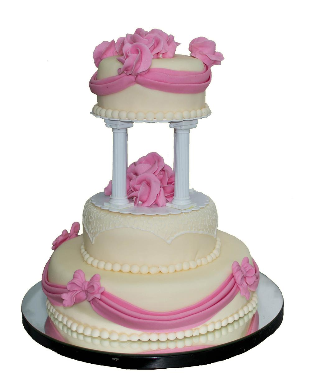 Tort Nunta Trandafiri Roz De La Cofetaria Tuffli Iasi