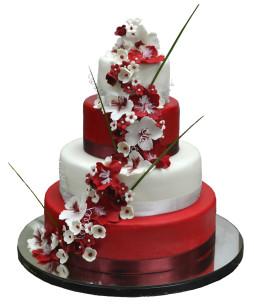 tort-nunta-rosu-alb