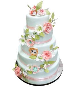 Tort-nunta-Mint-Green
