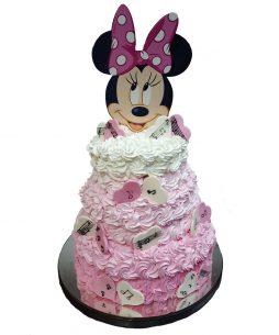 Tort botez Minnie bezele