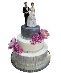 Tort nunta Silver Glamour