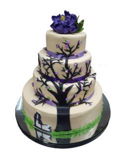 tort nunta copacul dragostei