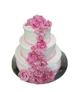 tort frisca pink roses