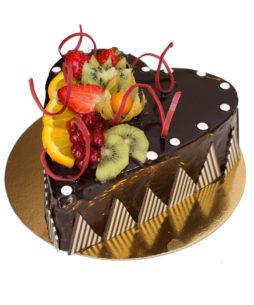 tort inima de ciocolata