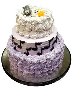 Tort nunta note muzicale si pisici