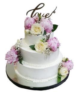 tort nunta bujori naturali2